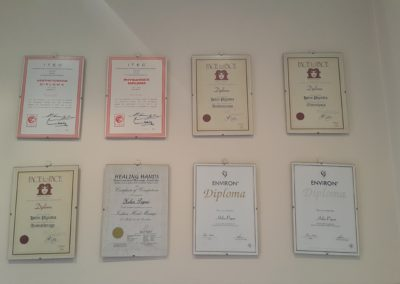 Some of the certificates that we hold